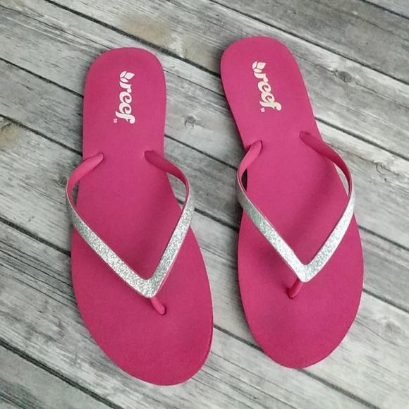 52119785ea8a64 Reef Shoes - Reef Silver Sparkle Flip Flops